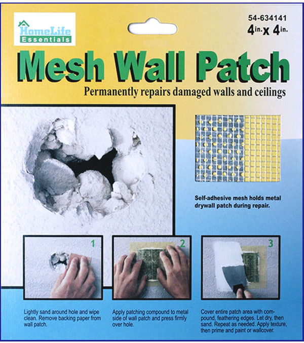 how to clean repair hole in mesh